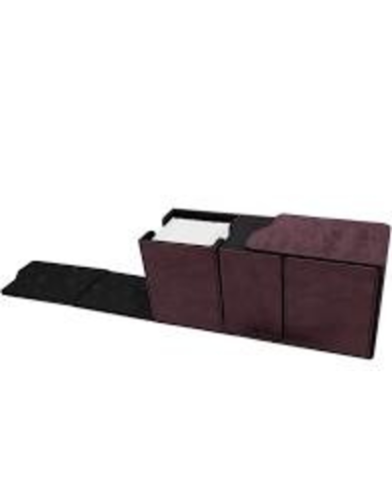Ultra Pro Deck Box: Alcove Vault: Suede: Ruby