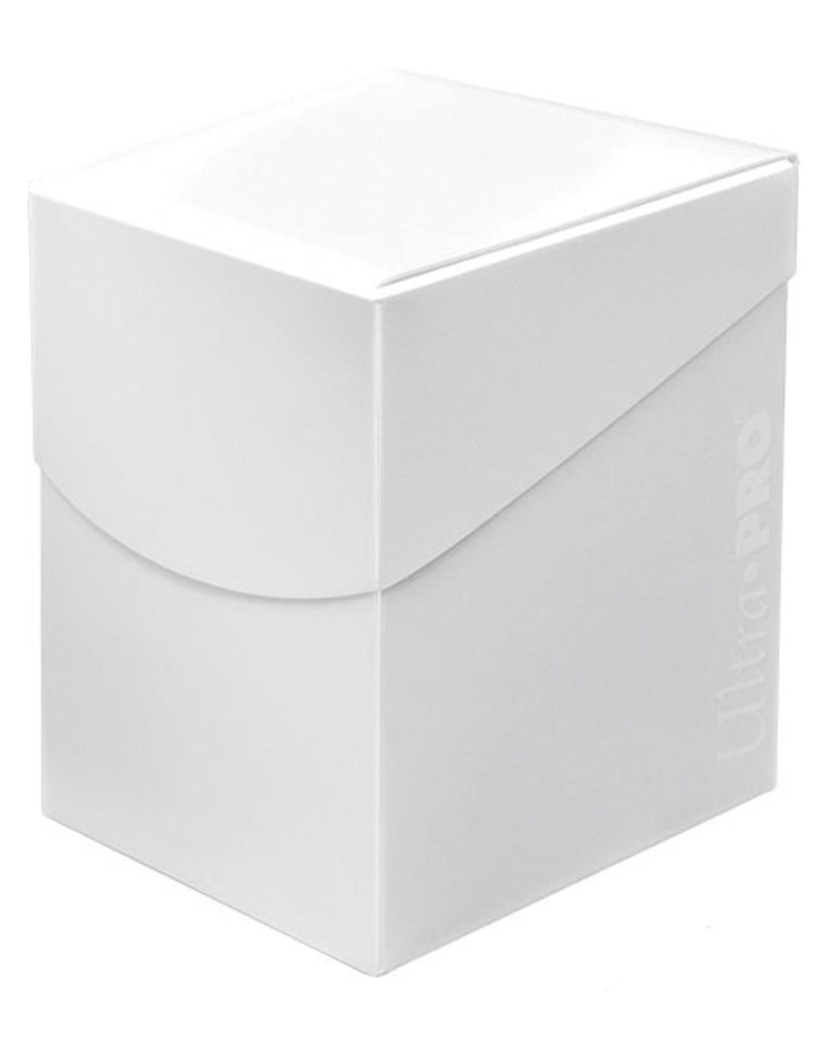 Ultra Pro Deck Box: PRO 100+: Eclipse: White
