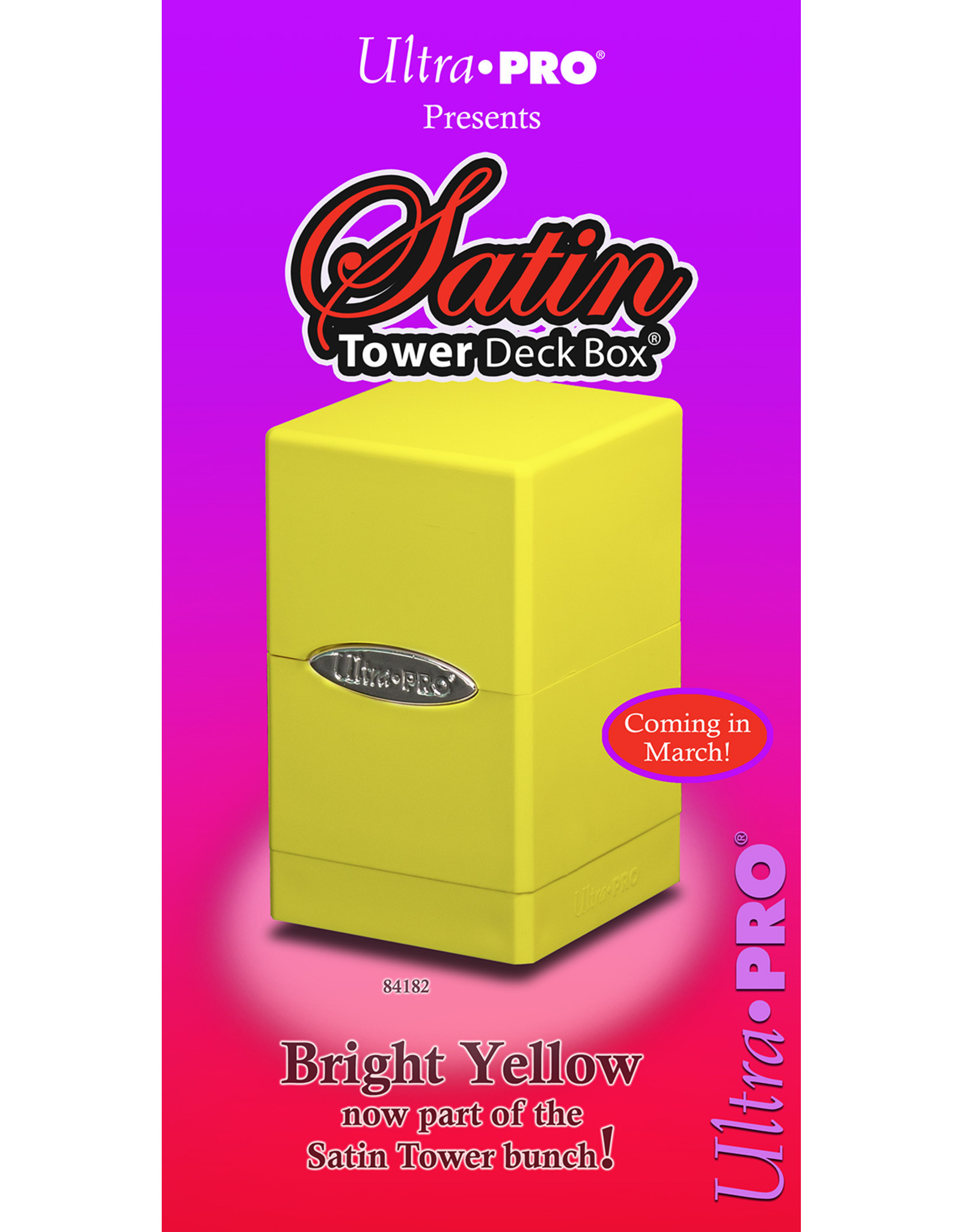 Ultra Pro DB Satin Tower: Bright Yellow