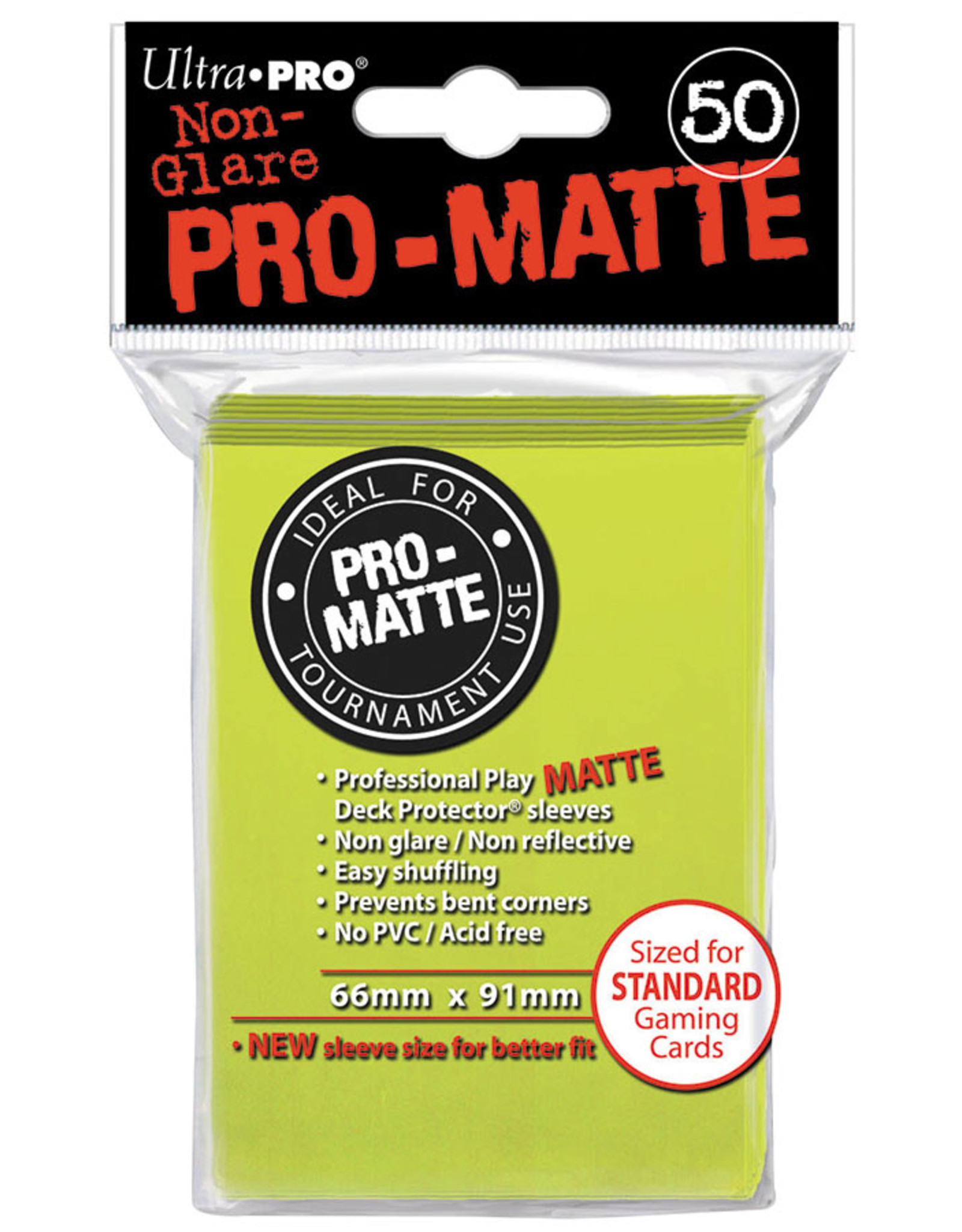 Ultra Pro Deck Protector: PRO-Matte - Bright Yellow (50std)