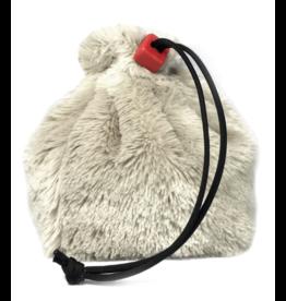 Dice Furry Dice Bag - White