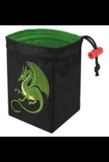 Dice Fantasy Green Dragon Embroidered Dice Bag