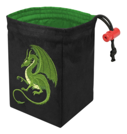 Dice Fantasy Green Dragon Embroidered Dice Bag