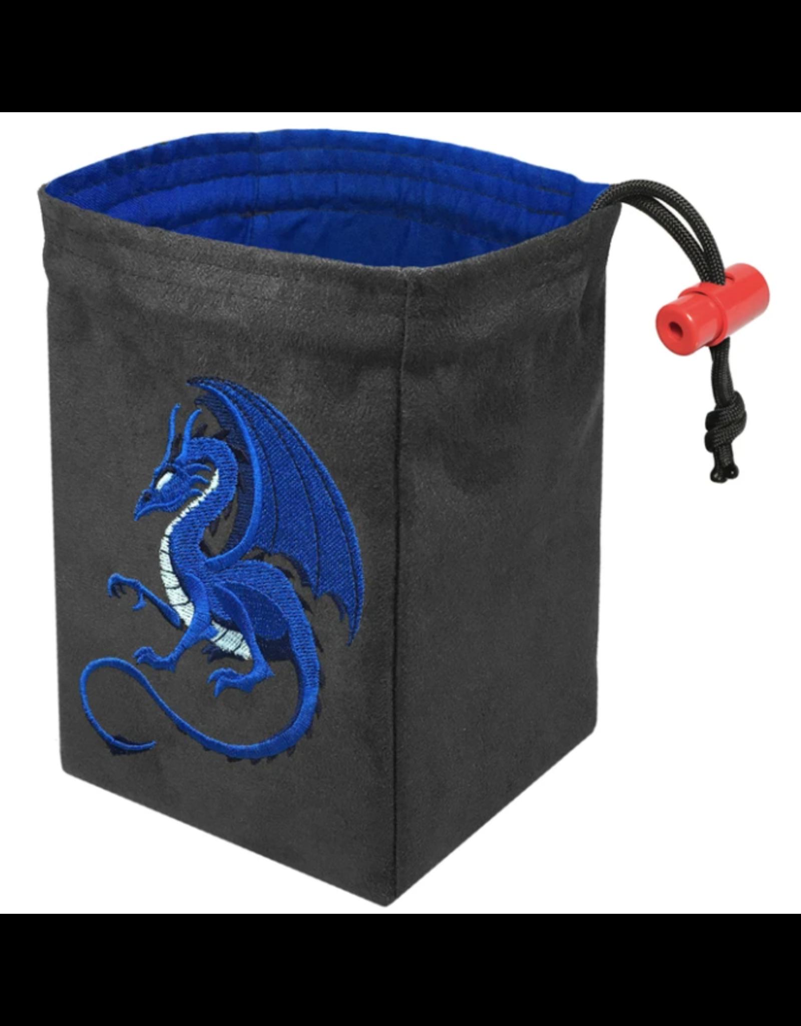 Dice Fantasy Blue Dragon Embroidered Dice Bag
