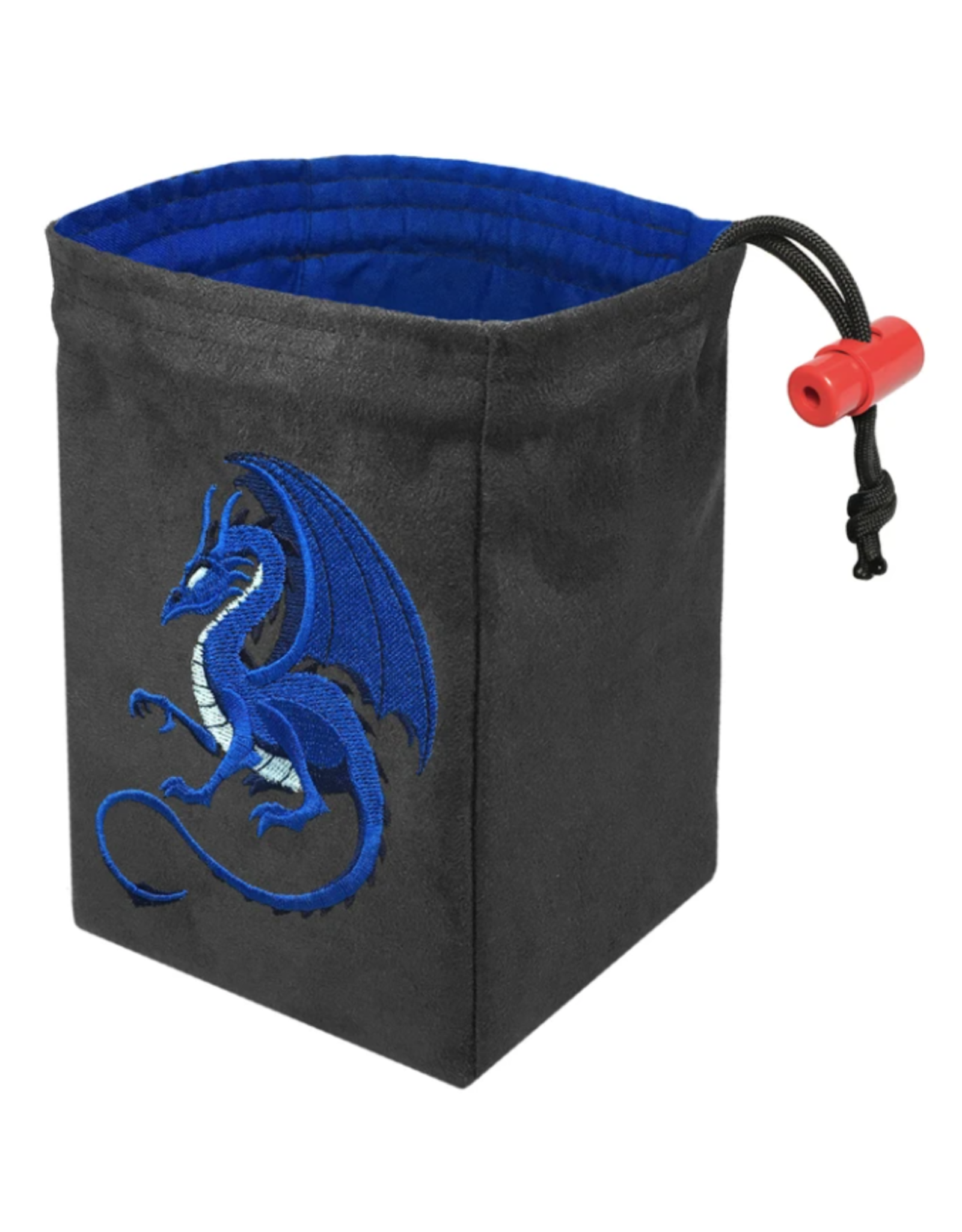 Fantasy Blue Dragon Embroidered Dice Bag