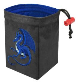 Dice Fantasy Blue Dragon Embroidered Dice Bag
