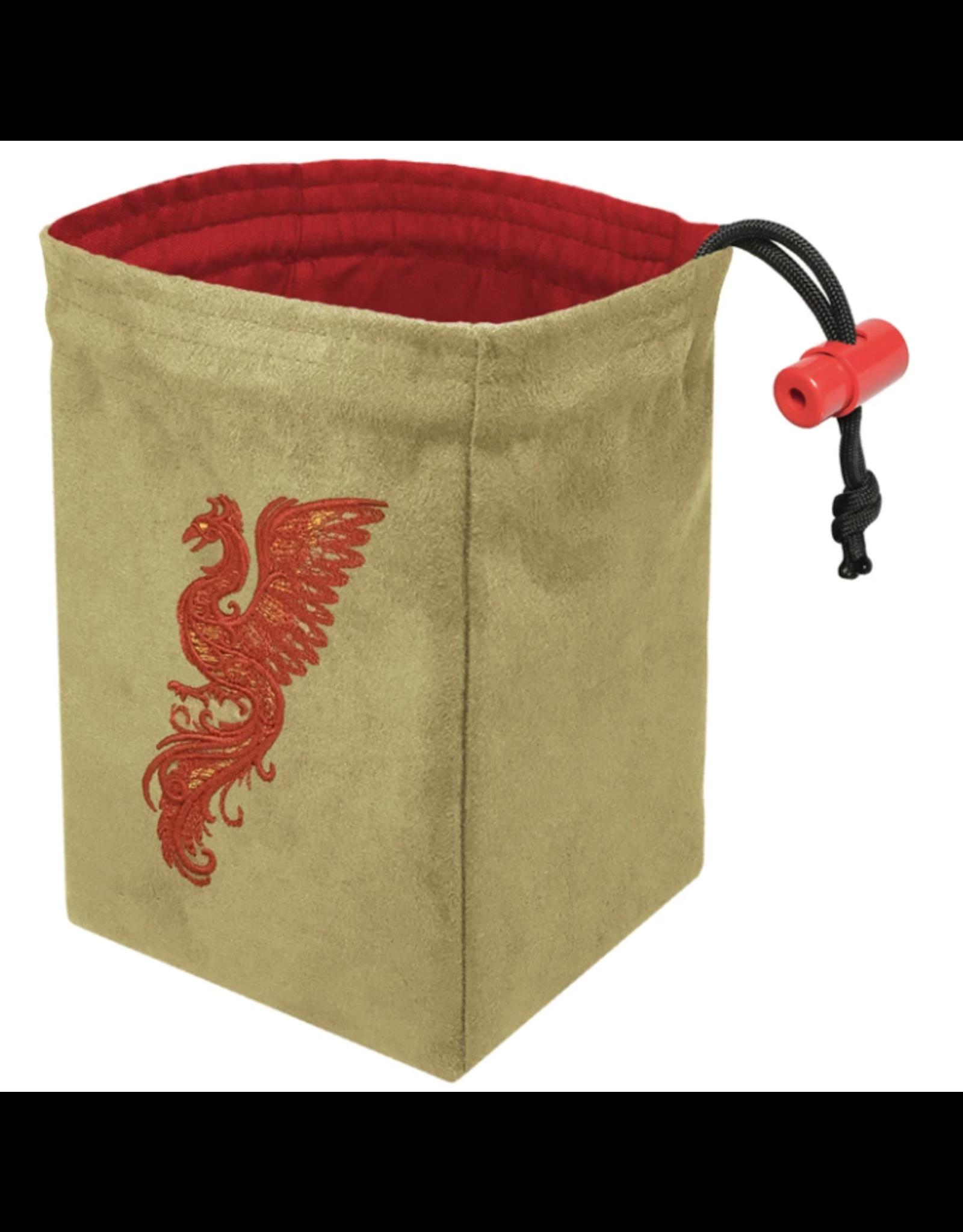 Dice Baroque Phoenix - Embroidered Dice Bag