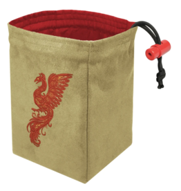 Dice Baroque Phoenix - Embroidered Dice Bag