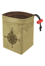 Dice Compass Rose - Embroidered Dice Bag