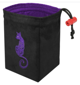 Baroque Cat - Embroidered Dice Bag