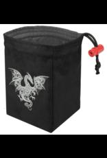 Baroque Smoke Dragon - Embroidered Dice Bag