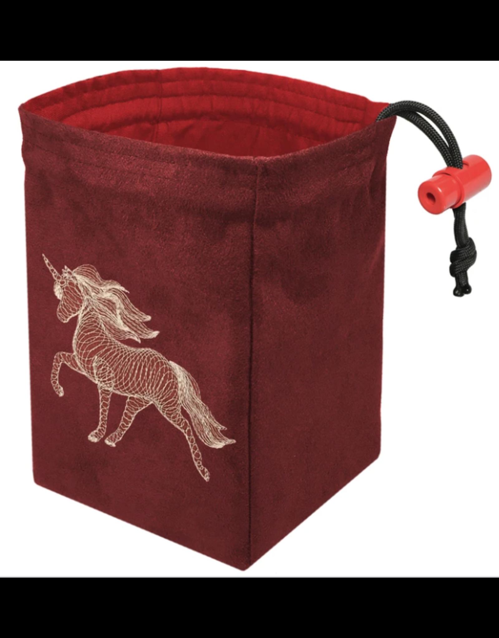 Dice Dimensional Unicorn - Embroidered Dice Bag