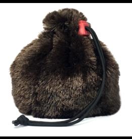 Dice Brown Bear Fur Dice Bag