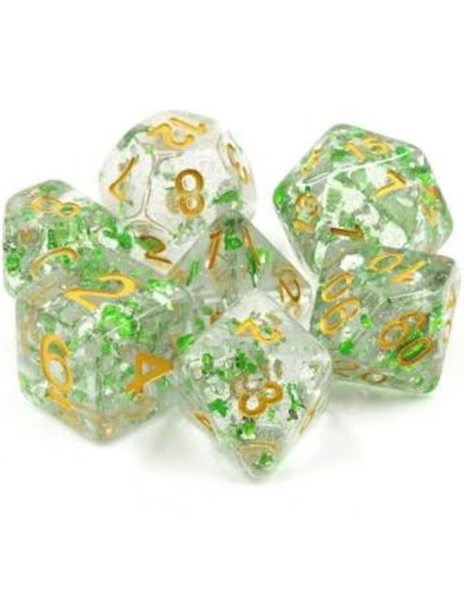 Dice 7-set Evergreen Sparkle CLGRgd