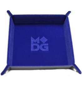 Dice Velvet Folding Dice Tray: 10x10 Blue