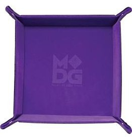 Dice Velvet Folding Dice Tray: 10x10 Purple