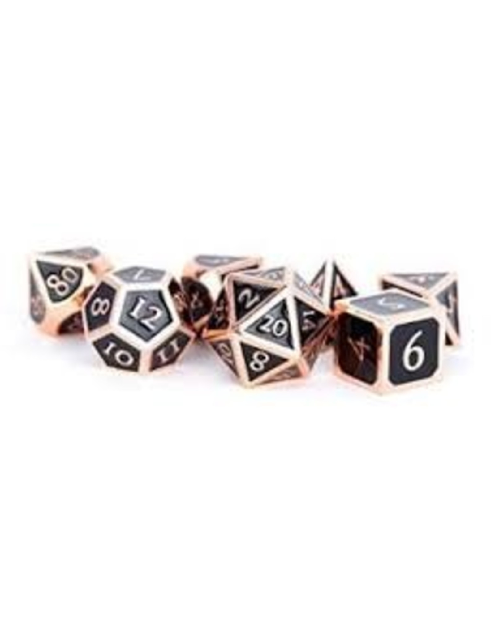 Dice 7-set: 16mm: BKCPcp Metal Enamel