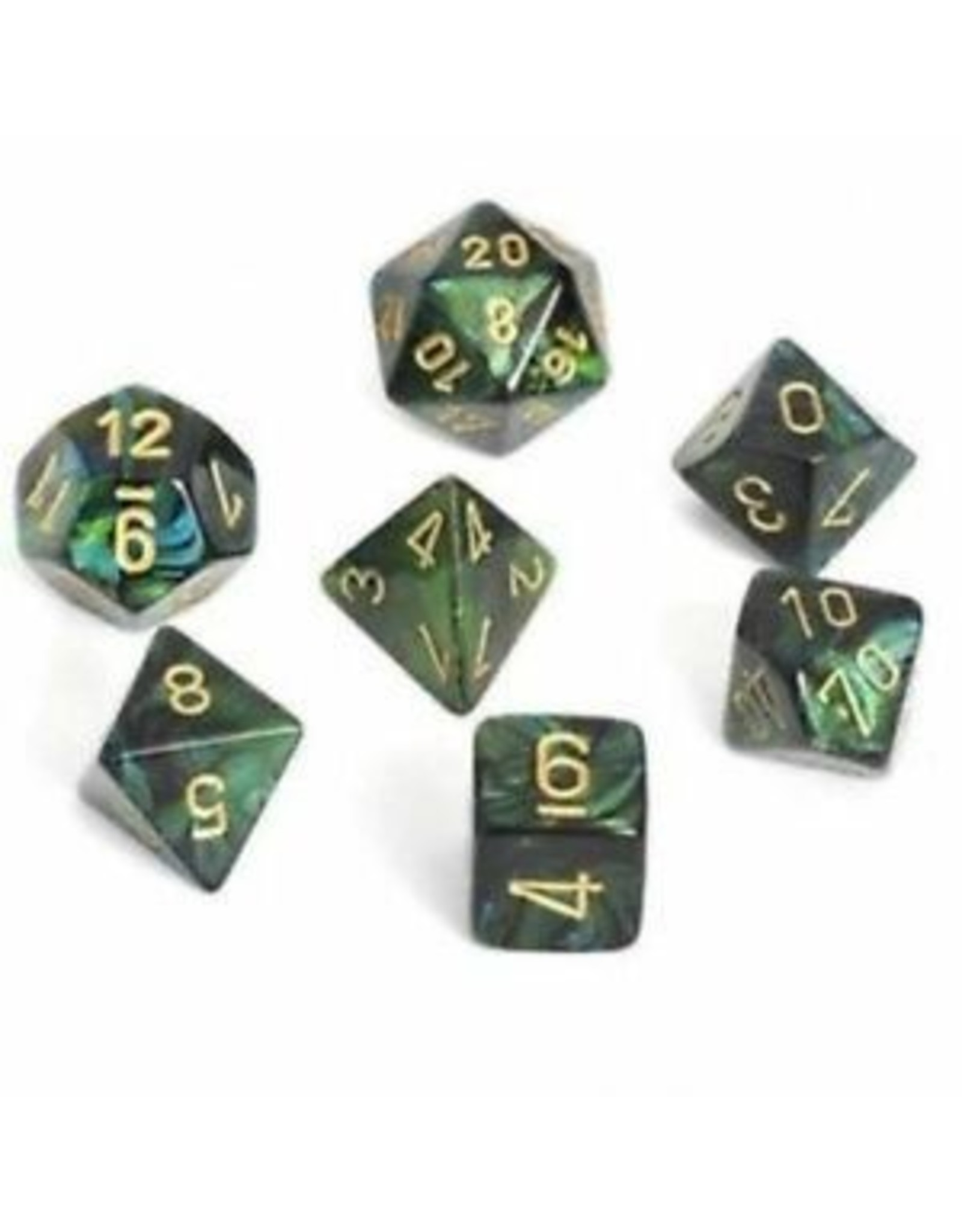 Chessex Scarab - Jade/Gold