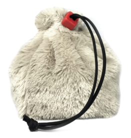 Dice Polar Bear Fur Dice Bag