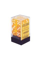 Chessex Yellow/White D6