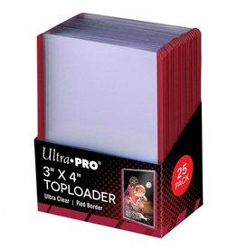 Ultra Pro TopLoader: 3X4 Red Border (25)