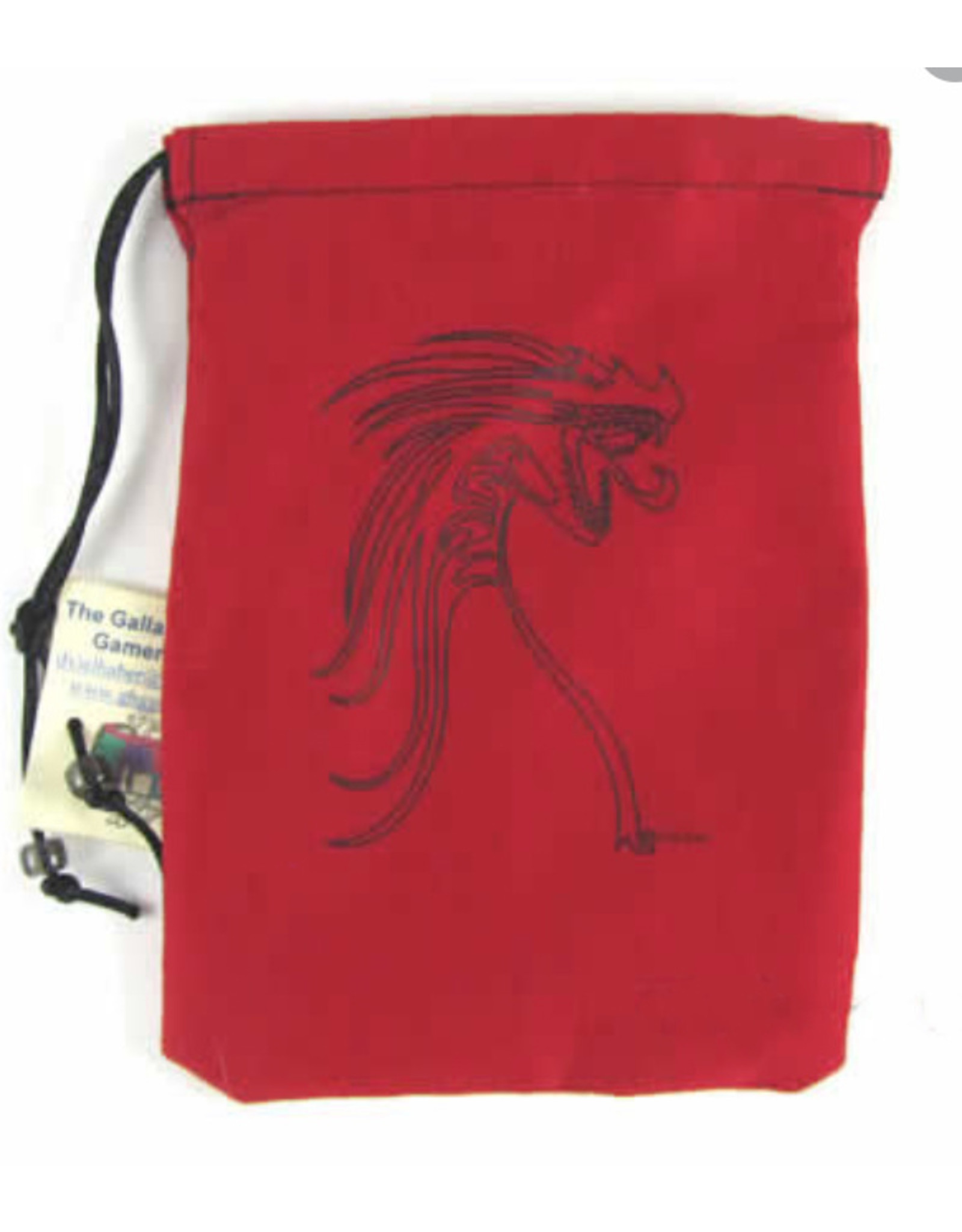Dice Black Tribal Dragon/Red Bag
