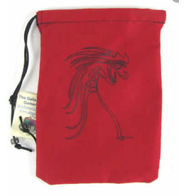 Dice Black Tribal Dragon/Red Bag