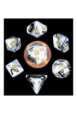 Metallic Dice Games 7-Set: Mini: Marble with Gold