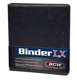 """BCD Binder: 3-Ring Zipper 1"""": LX BK"""