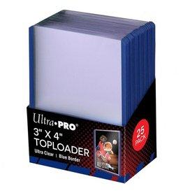 Ultra Pro TopLoader: 3X4 Blue Border (25)