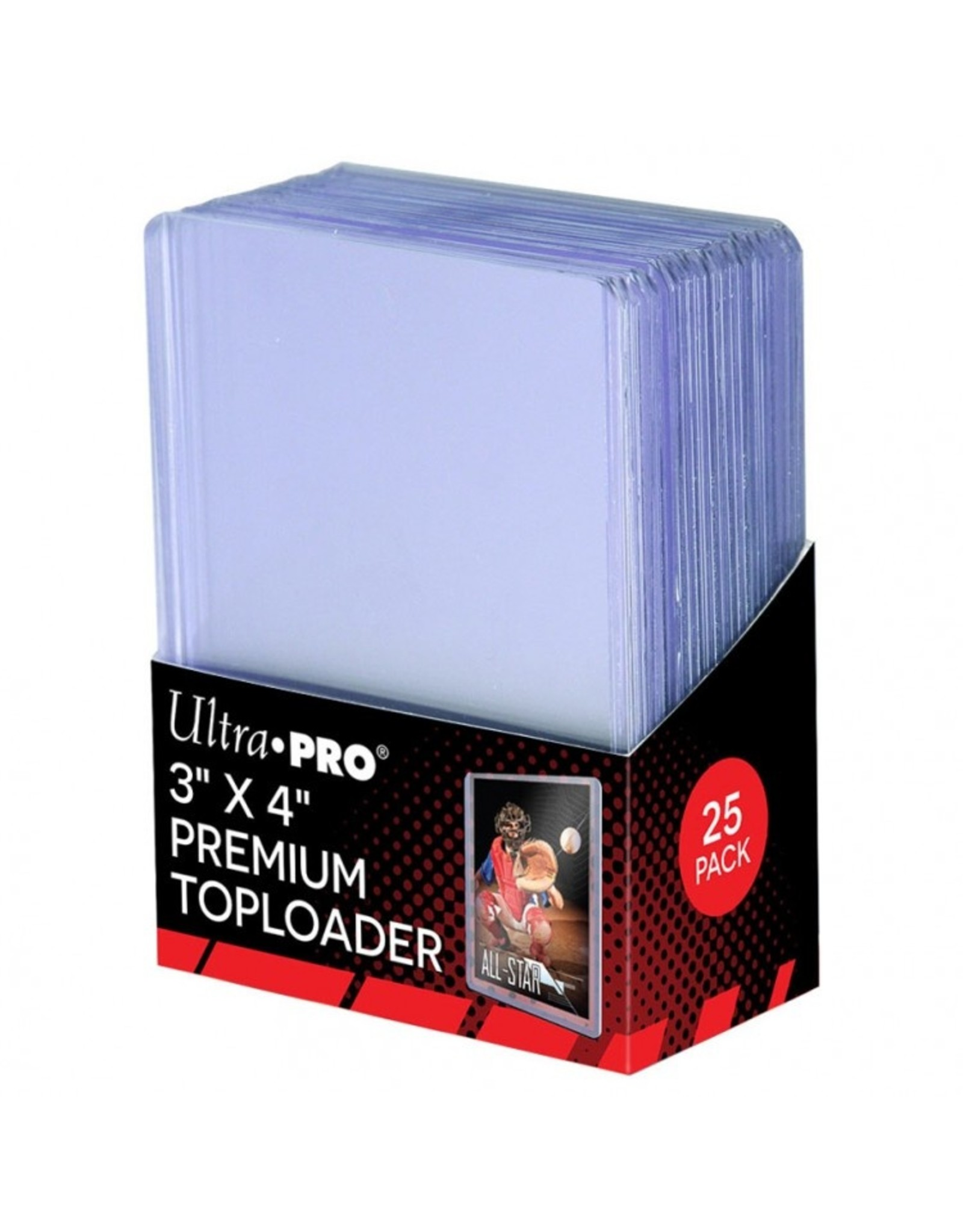 Ultra Pro TopLoader: 3x4 Hard Sleeves Premium (25)