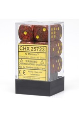 Chessex Speckled 16mm D6 Set-Mercury