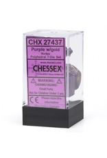 Chessex 7-Set Polyhedral Vortex Dice - Purple/Gold