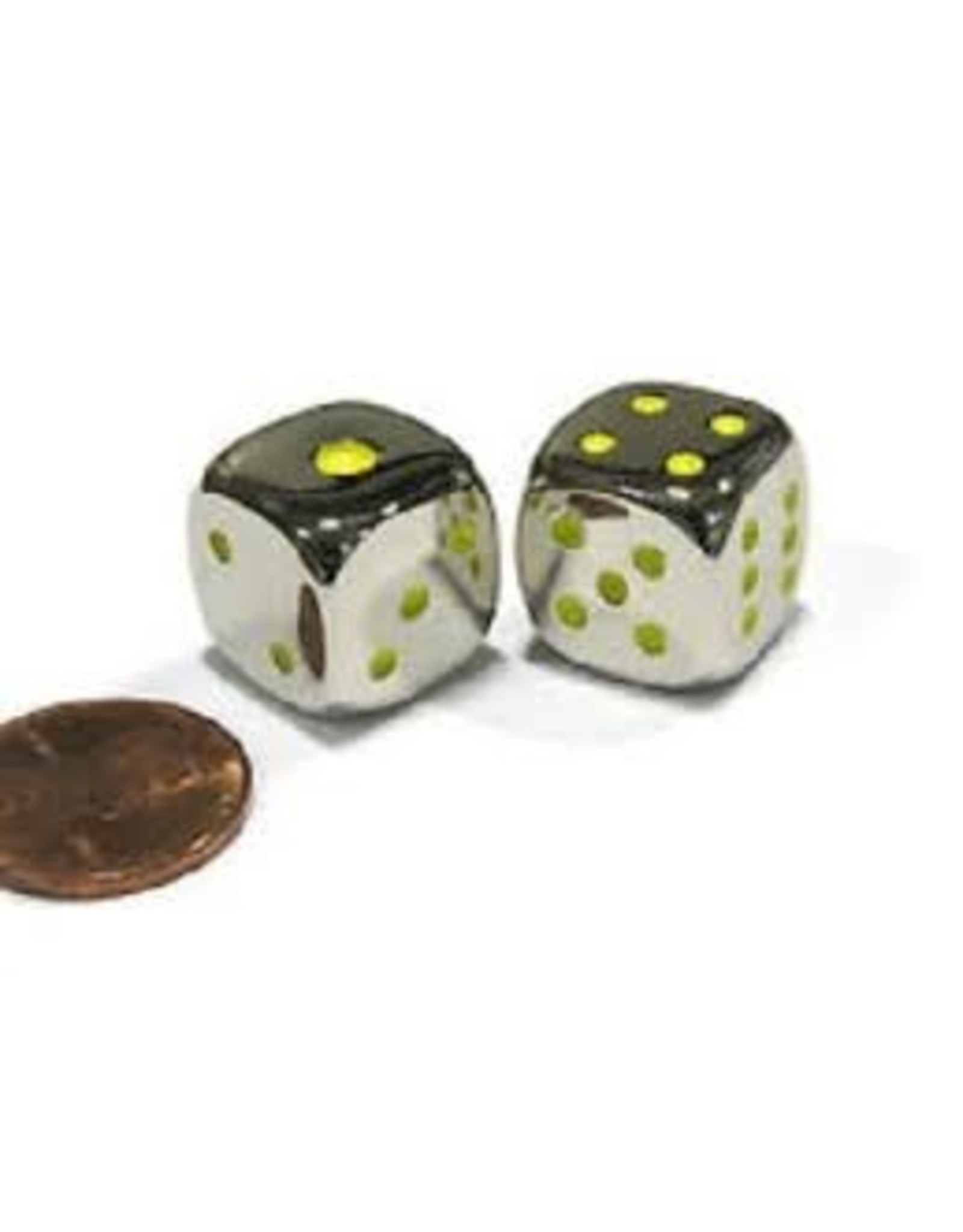 Koplow Metal Dice - Green Pips (15mm)