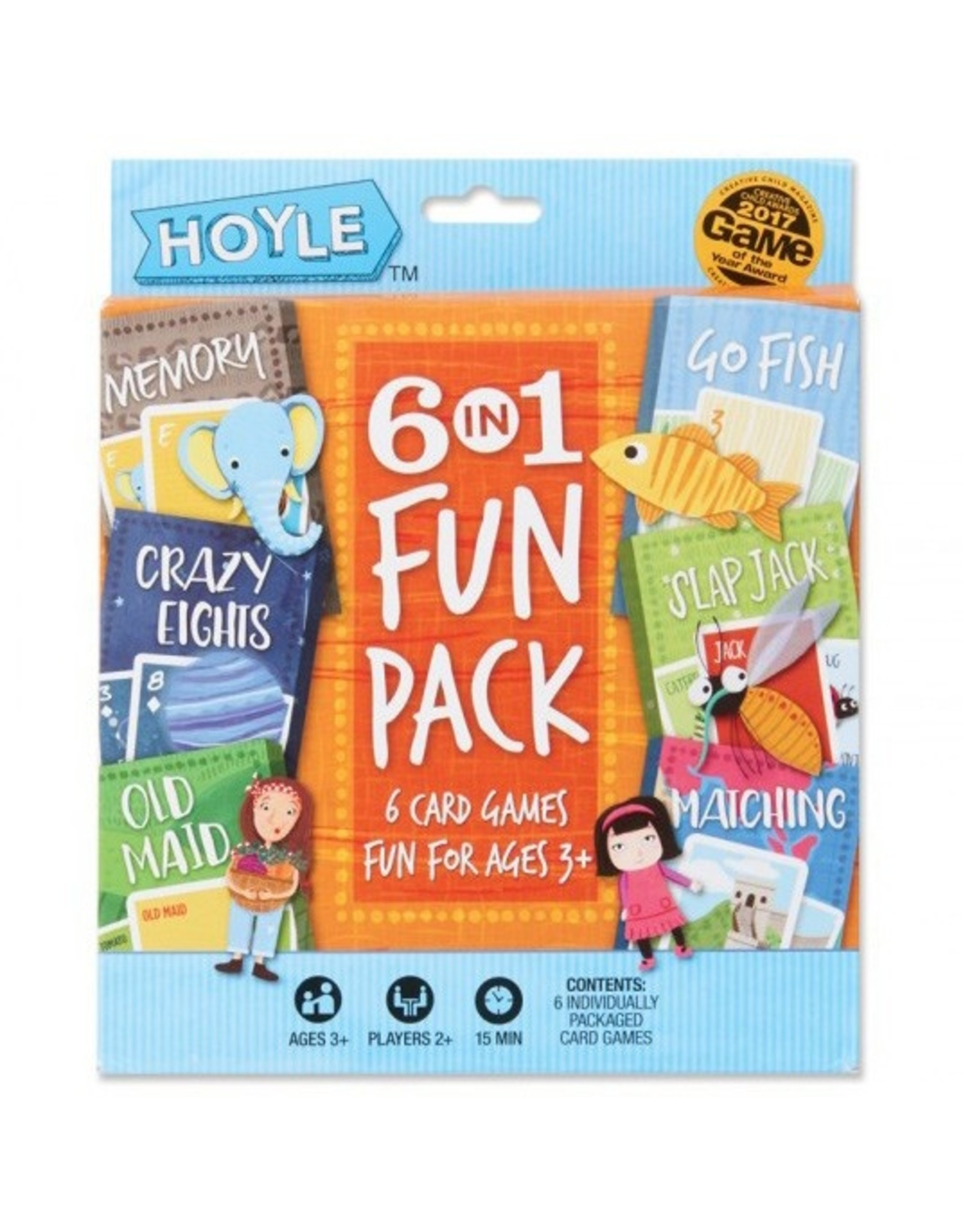 Bicycle Child Card Games: 6 in 1 Fun Pack