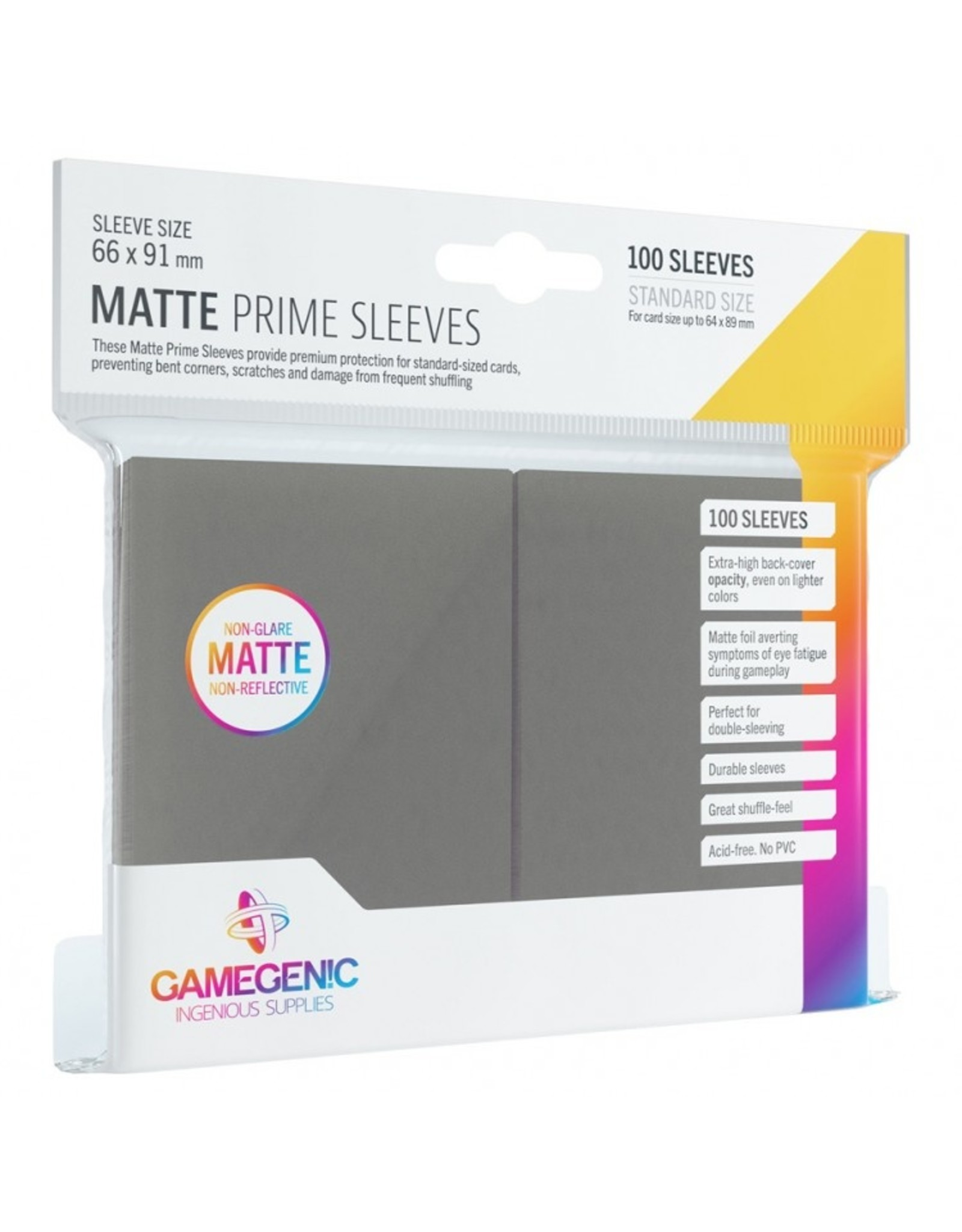 GameGenic Deck Protector: Matte Prime: GY (100)