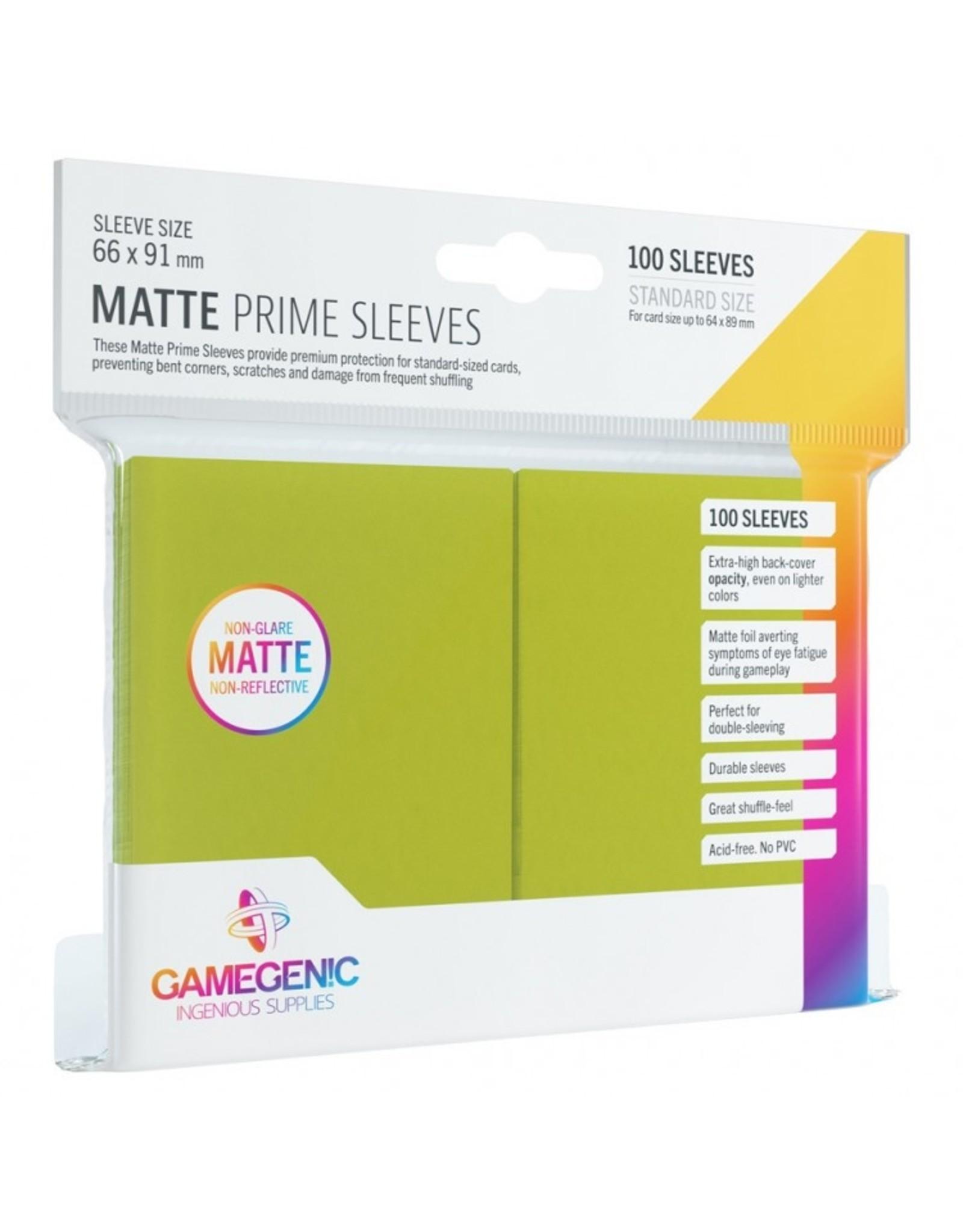 GameGenic Deck Protector: Matte Prime: Lime (100)