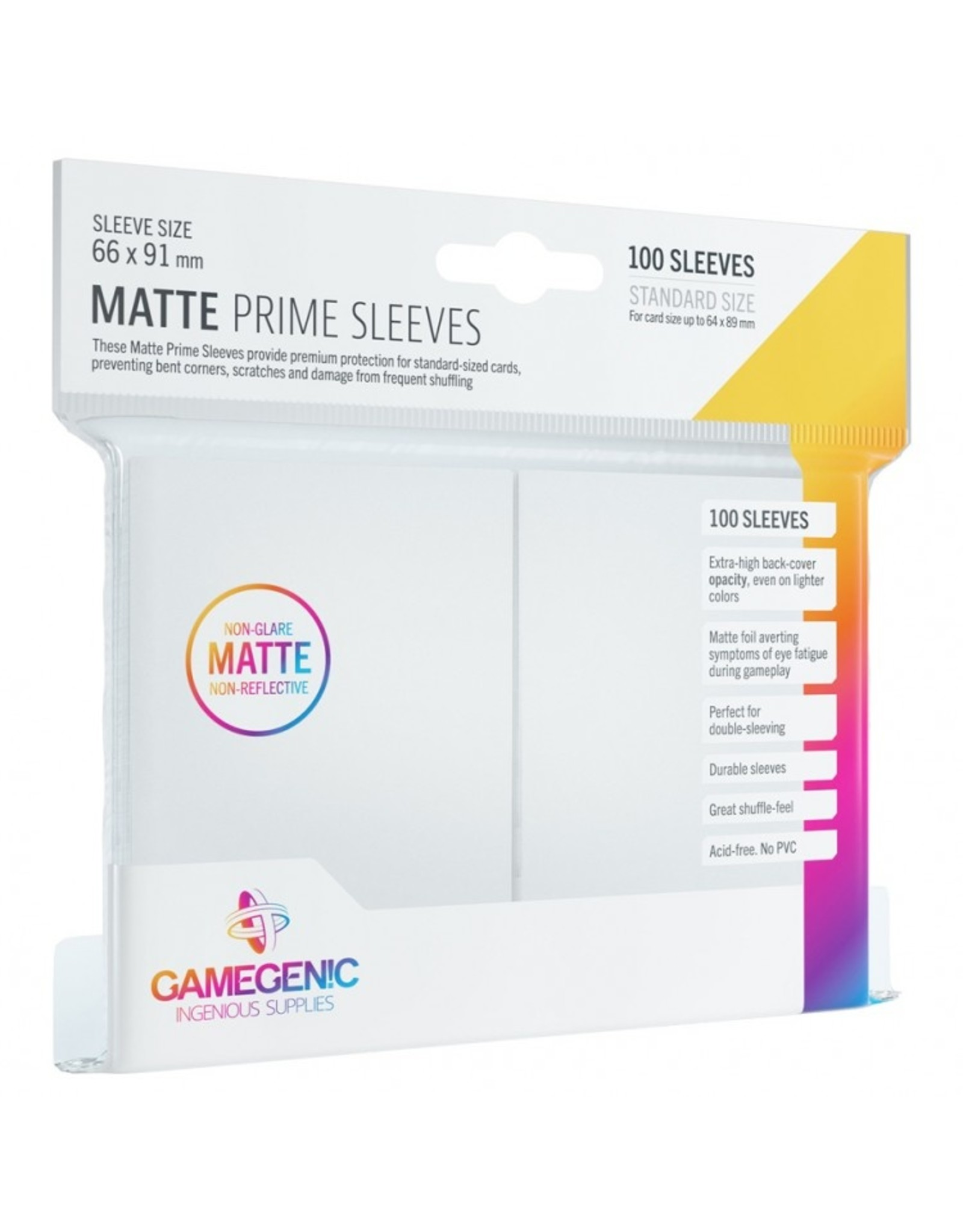 GameGenic Deck Protector: Matte Prime: WH (100)