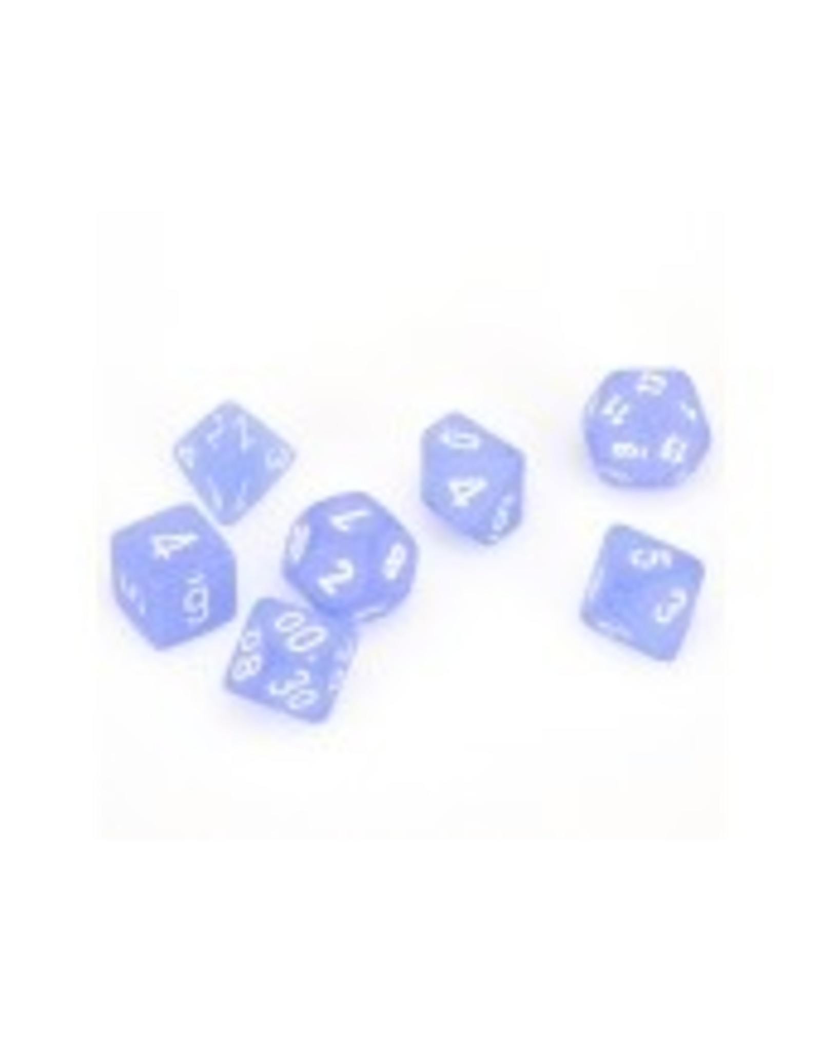 Chessex 7-Set Polyhedral Frosted Blue/White