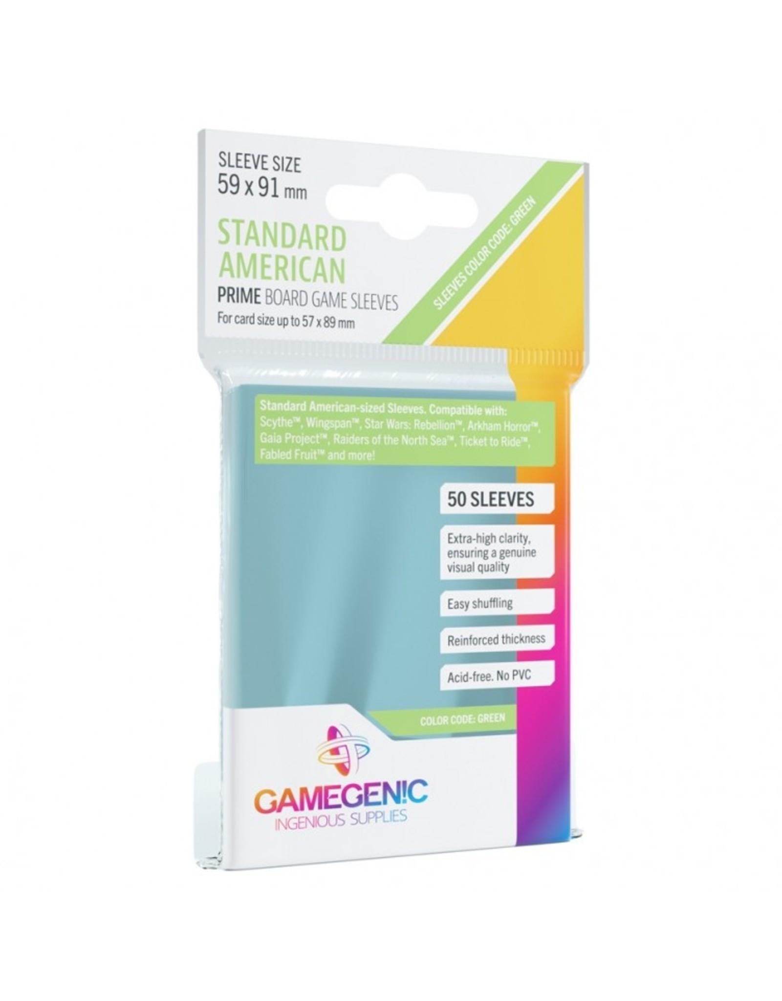 GameGenic Deck Protector: Prime: Standard American Green (50)
