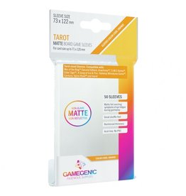 GameGenic Deck Protector: Matte: Tarot Orange (50)