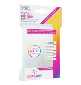 GameGenic Deck Protector: Matte: Scythe/Lost Cities Magenta (60)