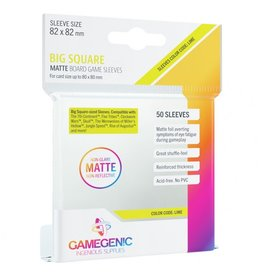 GameGenic Deck Protector: Matte: Big Square Lime (50)