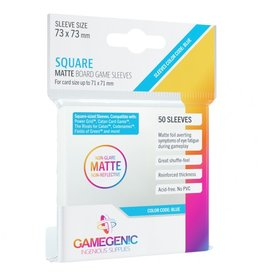 GameGenic Deck Protector: Matte: Square Blue (50)