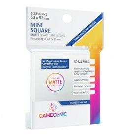 GameGenic Deck Protector: Matte: Mini-Square Dark Blue (50)