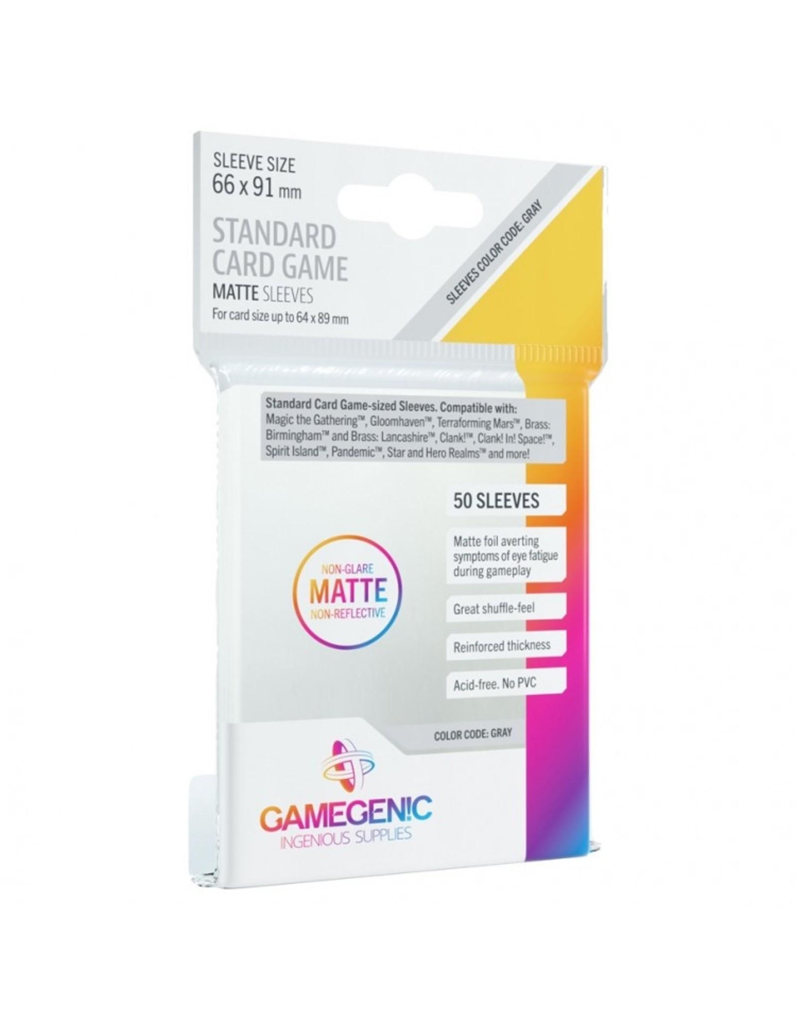 GameGenic Deck Protector: Matte: Standard Card Game Grey (50)