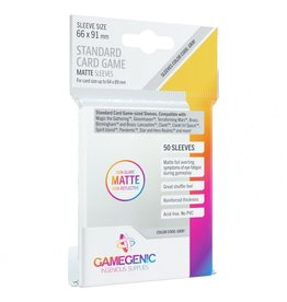 GameGenic Deck Protector: Matte: Standard Card Game Grey (50)