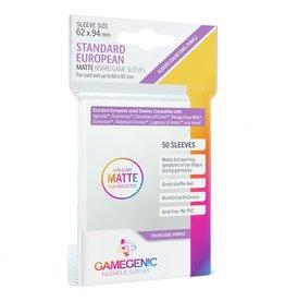 GameGenic Deck Protector: Matte: Standard European Purple (50)