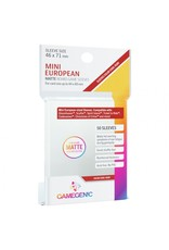 GameGenic Deck Protector: Matte: Mini European Ruby (50)