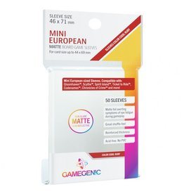 GameGenic Deck Protector: Matte: Mini European Ruby (50)